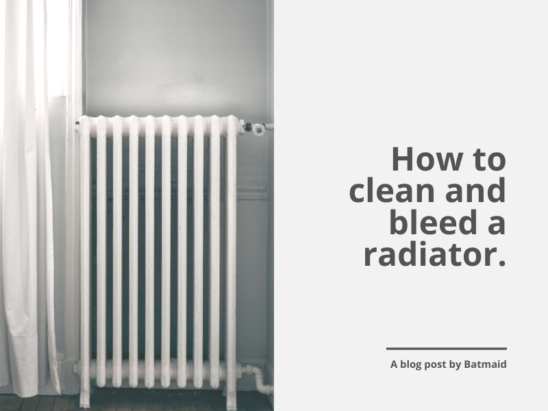 How to clean and bleed a radiator