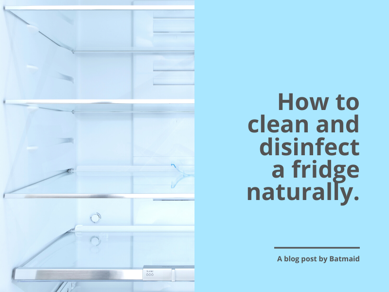 How to clean and disinfect a fridge naturally