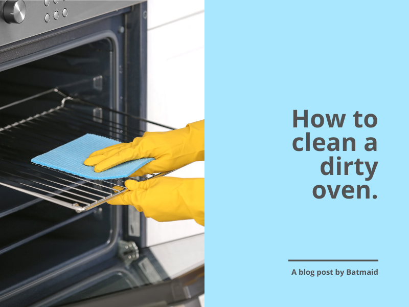 How to clean a dirty oven naturally