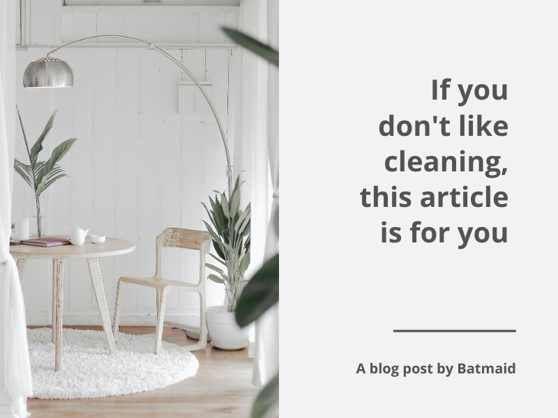 If you don't like cleaning, this article is for you