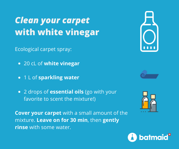 naturally clean carpet with white vinegar